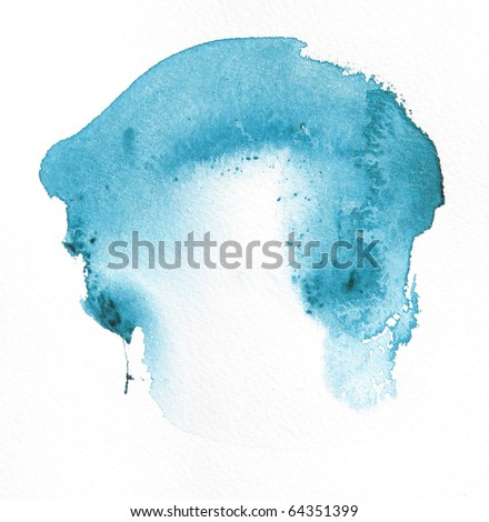 blue watercolor wash background design