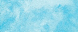 Blue watercolour wallpaper background, Sky in watercolor painting soft textured on wet white paper background, Abstract blue watercolour illustration banner, backdrop, poster