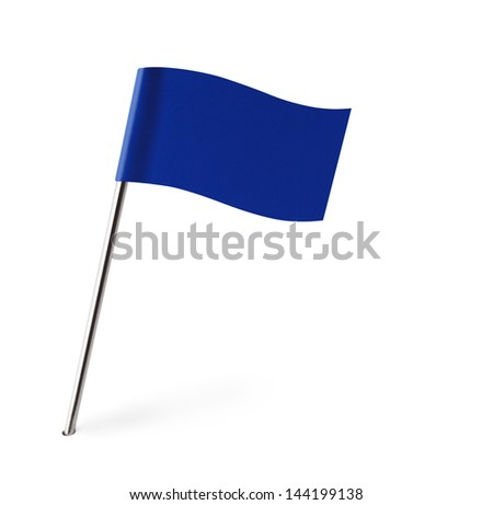 blue wave flag isolated on