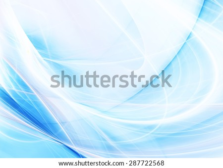 Blue wave. Modern color background with lighting effect. Abstract air pattern. Fractal art for creative graphic design.