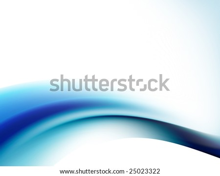 blue wave on white background. Abstract illustration