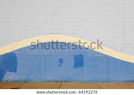 blue wave wall