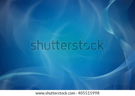 Blue wavy abstract background
