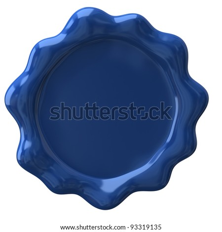 Blue wax seal with blank field