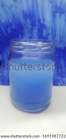 Blue whater glase banka fon Stok fotoğraf ©