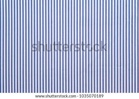 blue & white stripes fabric texture. #1035070189