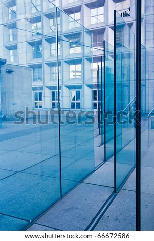 blue window