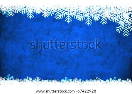 Blue winter background, useful as Christmas background with space for text or image - stock photo