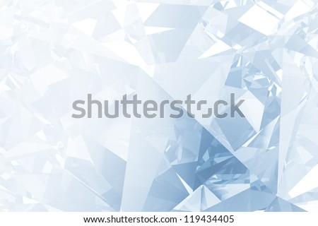 Blue winter facet background