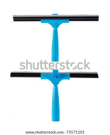 blue wiper for cleaning window