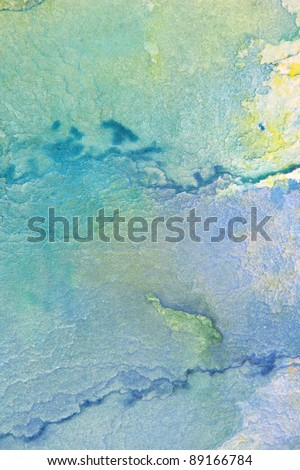 Blue with yellow watercolor background 6