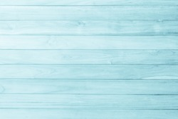 Blue wood background on summer. Sweet color wooden texture wallpaper. plywood or hardwood paint board.