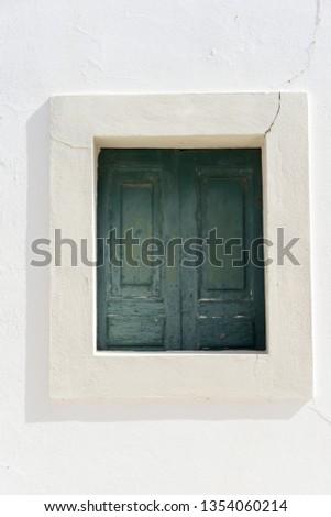 Blue wood window shades #1354060214