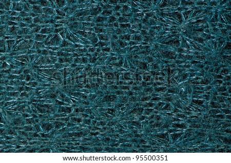 Blue wool texture, close up.