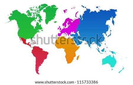 Blue World Map, World background