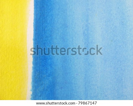 Blue & Yellow Watercolor Background 2