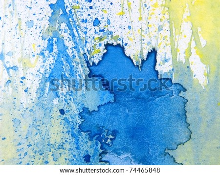 Blue Yellow & White Watercolor Textures 1