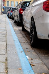 blue zone, parking cars symbol for parking, fees,