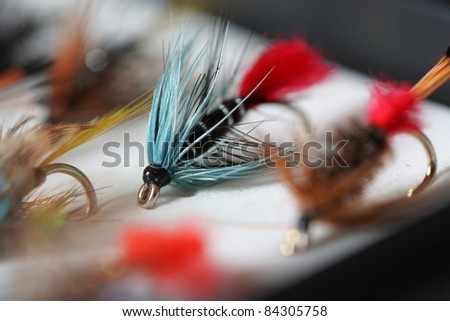 Blue Zulu - Artificial fly used for trout fishing