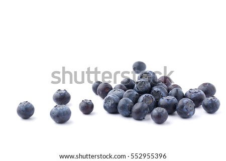 blueberries isolated #552955396
