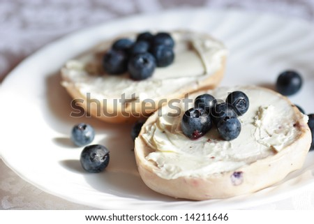 blueberry cream cheese bagels