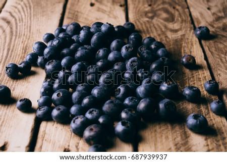 Blueberry.Die Heidelbeeren Stock fotó ©