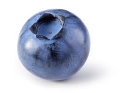 Blueberry isolated. Blueberry on white background. Bilberry. Clipping path.