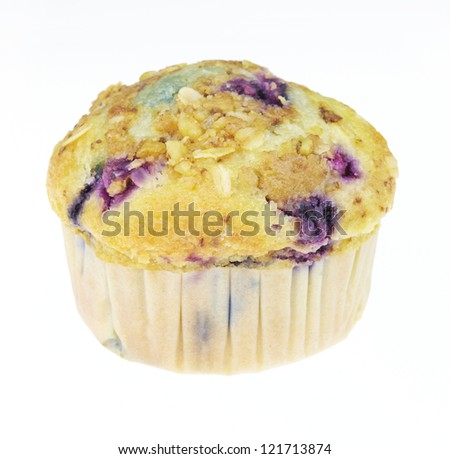 Blueberry Muffin isolated on white background