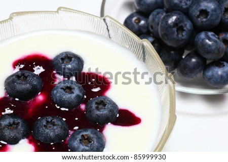Blueberry with yogurt