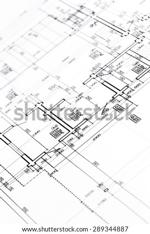Architectural Drawing Vector Illustration