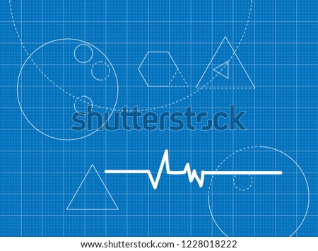 Blueprint for heart rhythm ekg #1228018222
