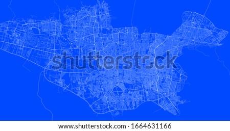 Blueprint of teheran city, One Color Map, color change, Artprint Stock fotó ©