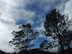 bluesky in Indonesia. Indonesia's natural wealth with its beauty.