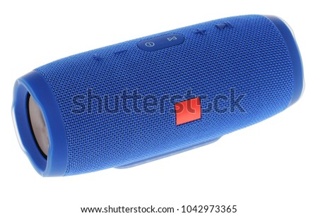 Bluetooth / wireless speaker in white background #1042973365
