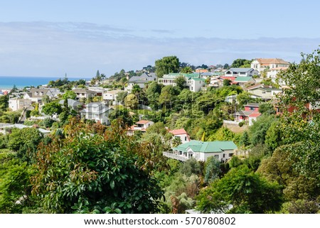 Shutterstock Bluff Hill residential area in the coastal city of Napier New Zealand overlooking the Pacific coast showing colonial style housing mixed with modern properties