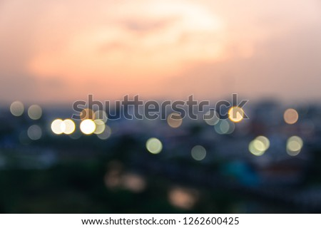 Blur Background Bokeh Abstract with Lighting and Sunrise in the Morning,desfocused blurry soft sunlight,Dusk. #1262600425
