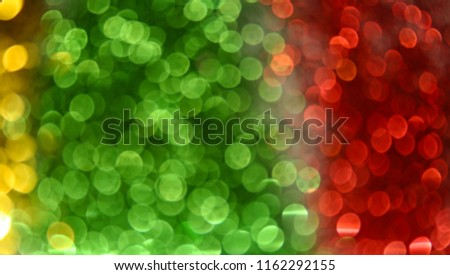 Blur Background Colorful Bokeh Red Yellow Green