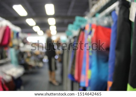Blur Background Customer in Thrift Store, Clothing Store