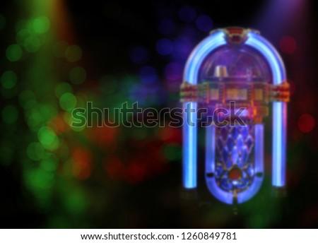 Blur Background Jukebox  #1260849781