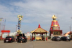 Blur background of Chinese temple in Thailand