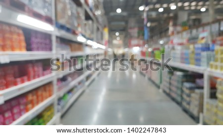 blur background of Convinien store,Department store