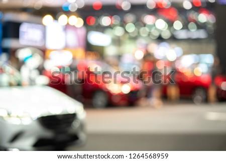 blur background of international motorshow, Bangkok