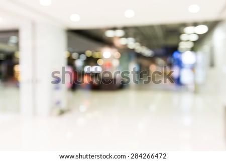 Blur background of luxury store