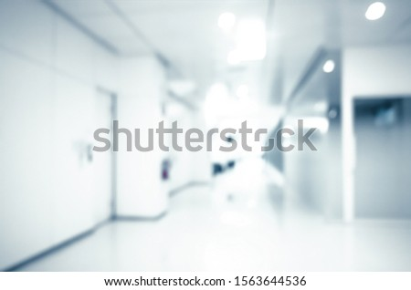 blur background of modern hospital or clinic corridor interior, medical and healthcare concept