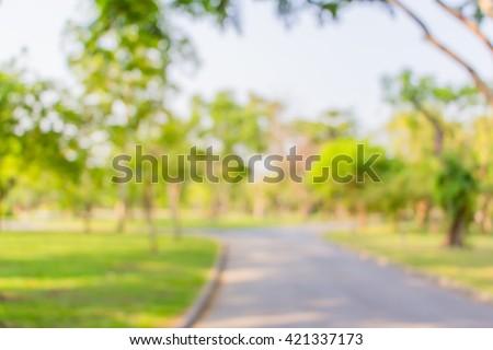 Blur background park