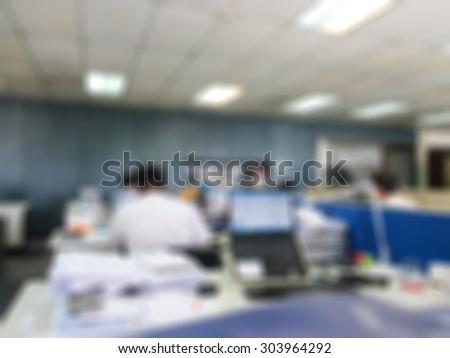 Blur background : People in office organization blur background.