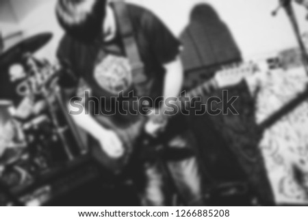 Safety Stock - Blur Background professional electronic guitar hero
