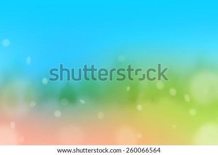 Blur background : sky and tree bokeh ,soft background