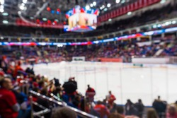 blur background with arena or stadium of sport ice hockey