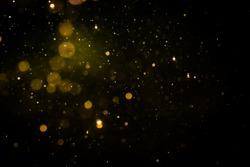 Blur bokeh of light on black background